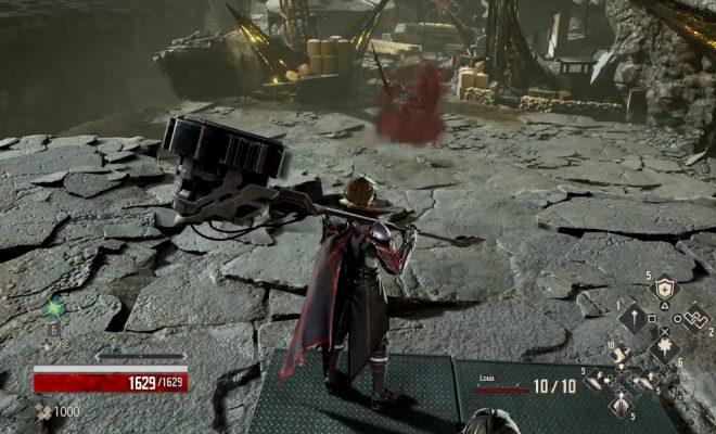 Code Vein boss fight gameplay