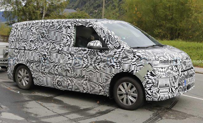 Next-Gen Volkswagen T7 Transporter Spied Vacationing In The Alps
