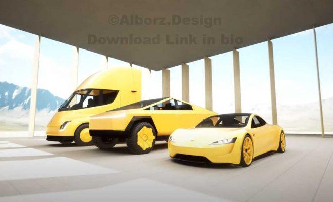 See Tesla Cybertruck, Roadster, Semi In Unique Side-By-Side Walkaround Video