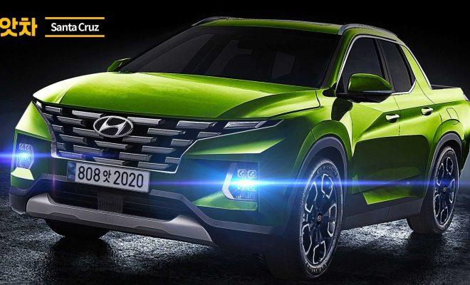 Hyundai Santa Cruz Rendering Takes Off The Camouflage