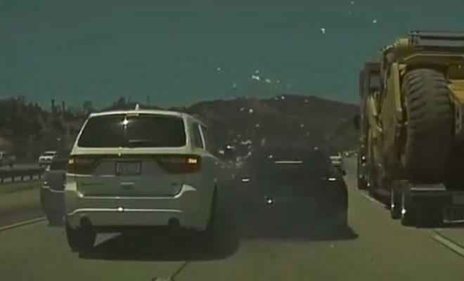 Watch Durango SUV Crash Into Rear Of Tesla Model 3 After Autopilot Avoids Semi