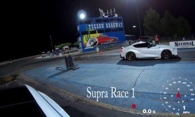 Watch Tesla Model 3 Performance Vs Modified Toyota Supra At The Strip