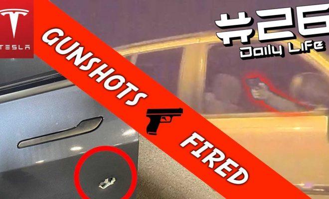 Extreme Road Rage: Watch Man Fire Multiple Gunshots At A Moving Tesla