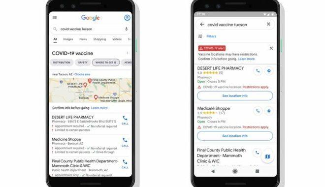 Google Maps will soon show COVID vaccine locations